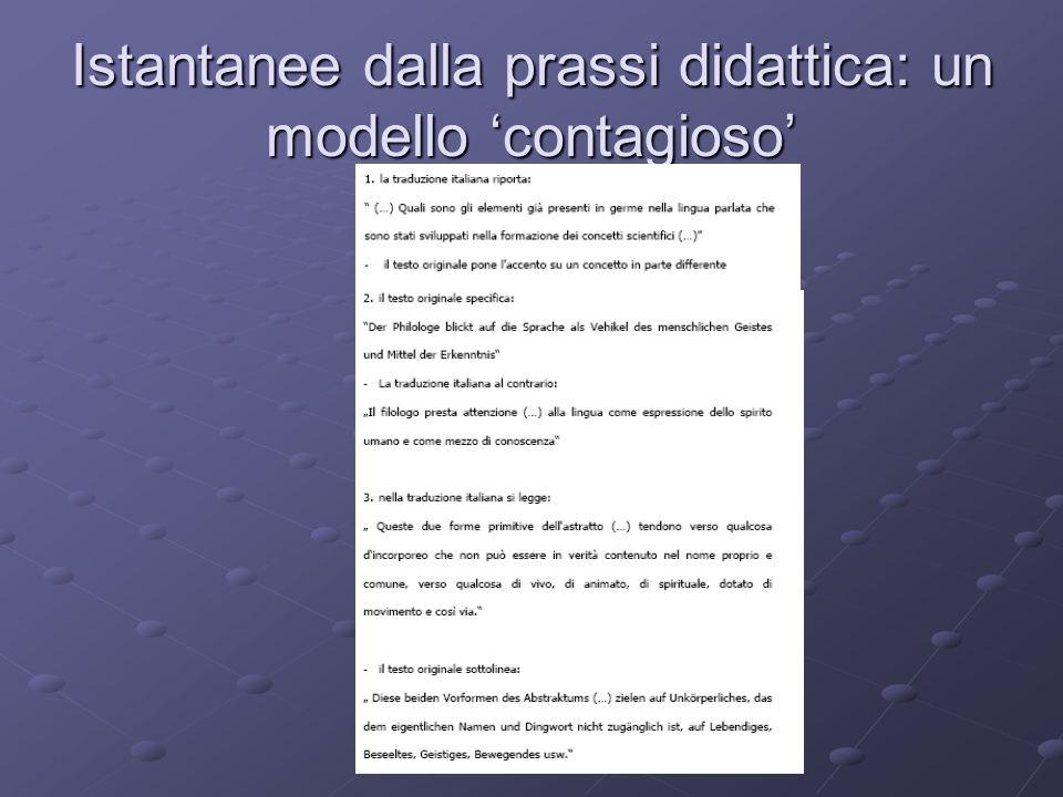 Anna Maria Curci - Roma Tre, Facoltà di Lettere, 3 ottobre 2008 Istantanee dalla prassi didattica: un modello contagioso