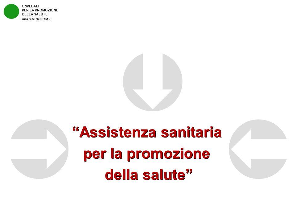 Assistenza sanitaria per la promozione della salute Assistenza sanitaria per la promozione della salute OSPEDALI PER LA PROMOZIONE DELLA SALUTE una re