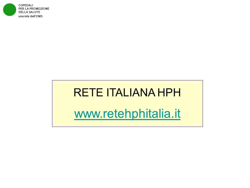 OSPEDALI PER LA PROMOZIONE DELLA SALUTE una rete dellOMS RETE ITALIANA HPH www.retehphitalia.it