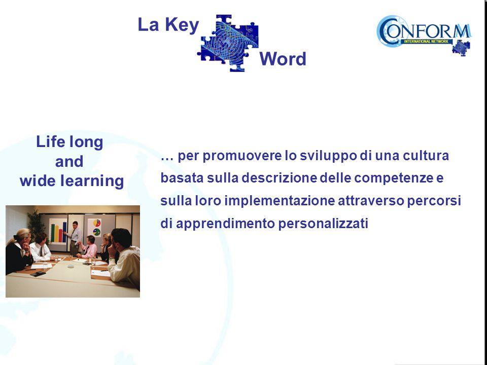 Life long and wide learning … per promuovere lo sviluppo di una cultura basata sulla descrizione delle competenze e sulla loro implementazione attraverso percorsi di apprendimento personalizzati La Key Word