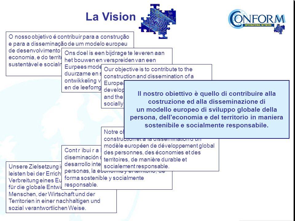 O nosso objetivo é contribuir para a construção e para a disseminação de um modelo europeu de desenvolvimento global da pessoa, da economia, e do território de maneira sustentável e socialmente responsável.