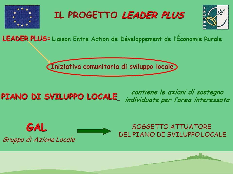 LEADER PLUS IL PROGETTO LEADER PLUS LEADER PLUS LEADER PLUS= Liaison Entre Action de Développement de lÉconomie Rurale Iniziativa comunitaria di svilu