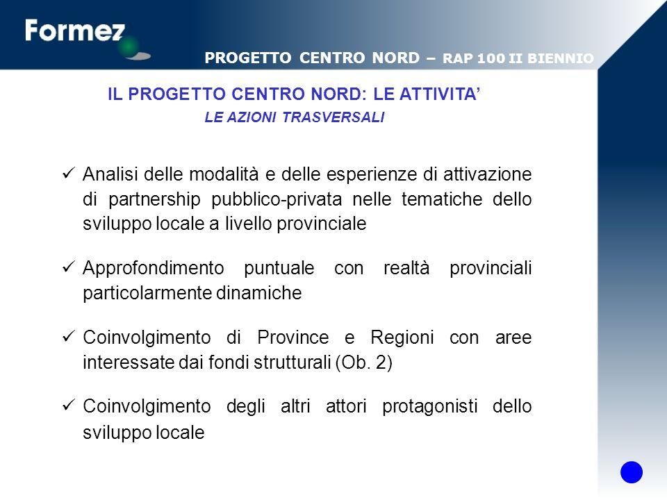 Analisi delle modalità e delle esperienze di attivazione di partnership pubblico-privata nelle tematiche dello sviluppo locale a livello provinciale A