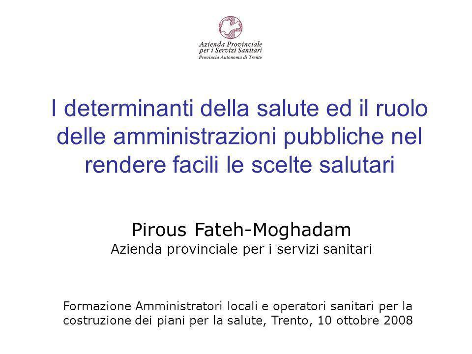 Sovrappeso ed obesità in Trentino Risultati del sistema di monitoraggio PASSI