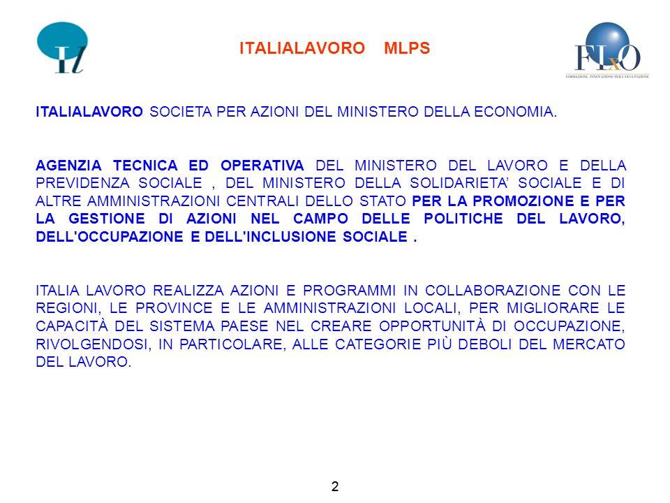 2 ITALIALAVORO MLPS ITALIALAVORO SOCIETA PER AZIONI DEL MINISTERO DELLA ECONOMIA.