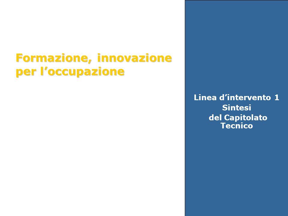 Linea dintervento 1 Sintesi del Capitolato Tecnico Formazione, innovazione per loccupazione