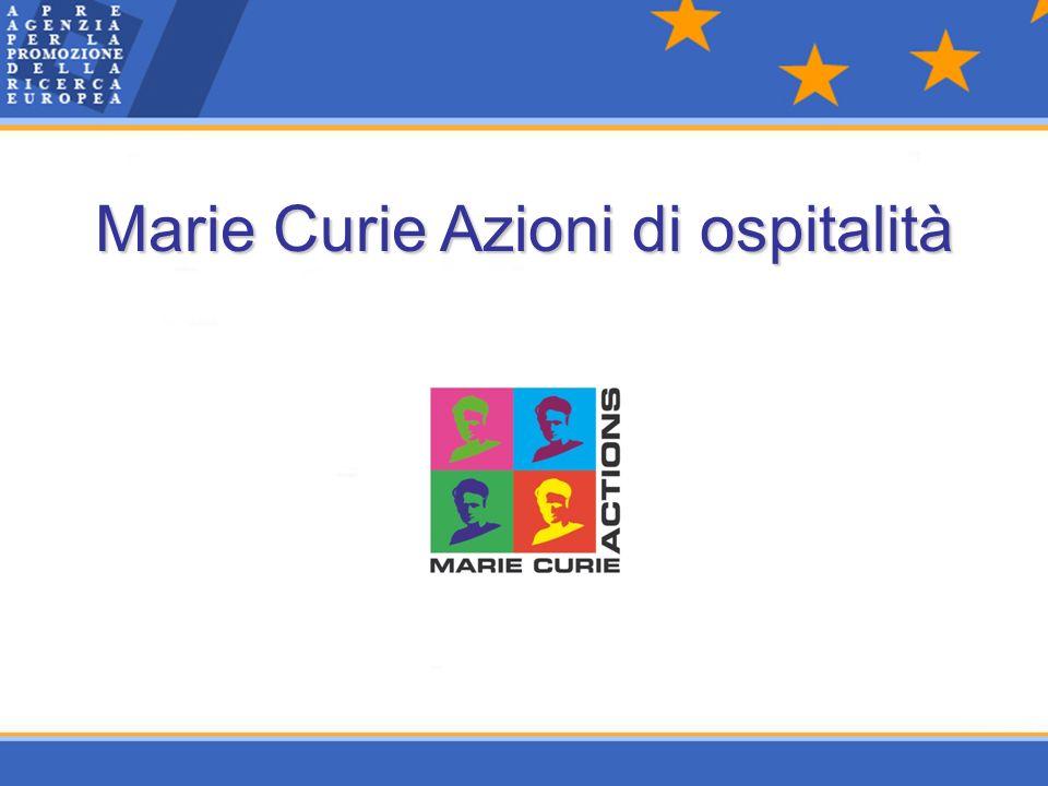 Marie Curie Azioni di ospitalità