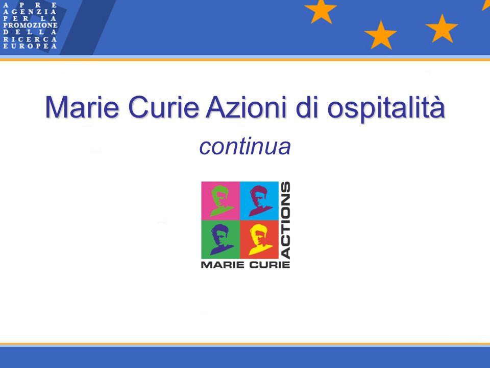 Marie Curie Azioni di ospitalità continua