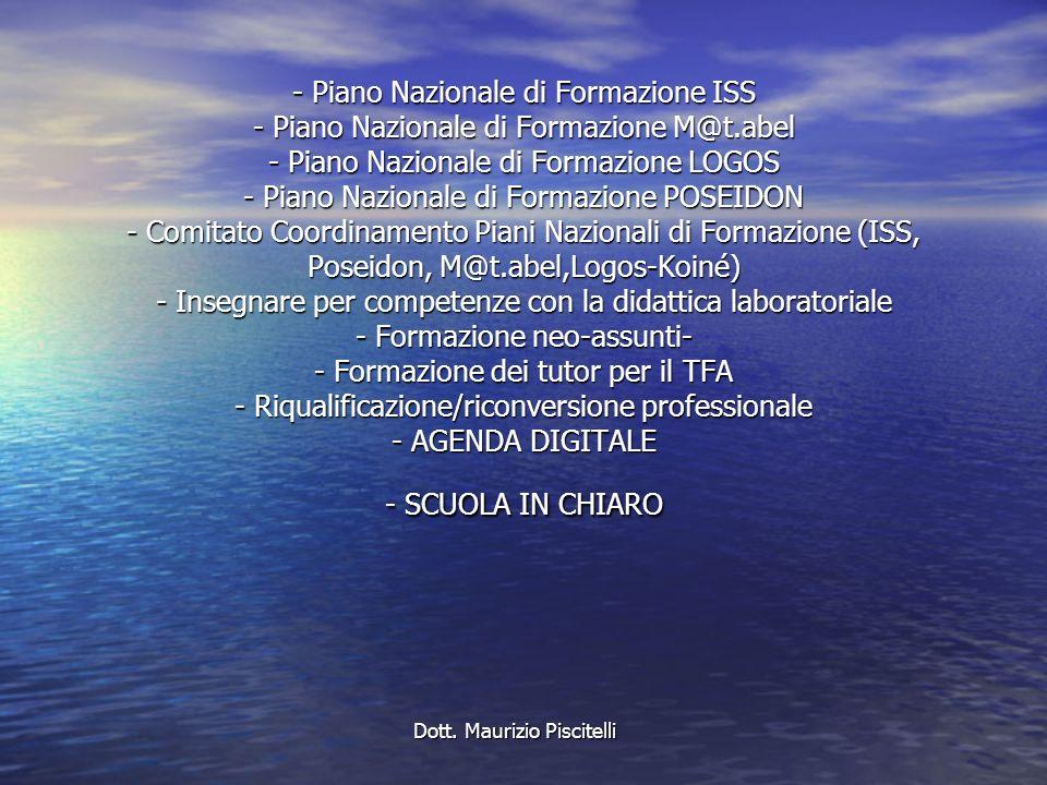 - Piano Nazionale di Formazione ISS - Piano Nazionale di Formazione M@t.abel - Piano Nazionale di Formazione LOGOS - Piano Nazionale di Formazione POS