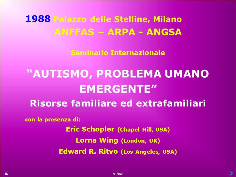 A. Bovi aderisce a: Autisme Europe LEDHA (segue) 15