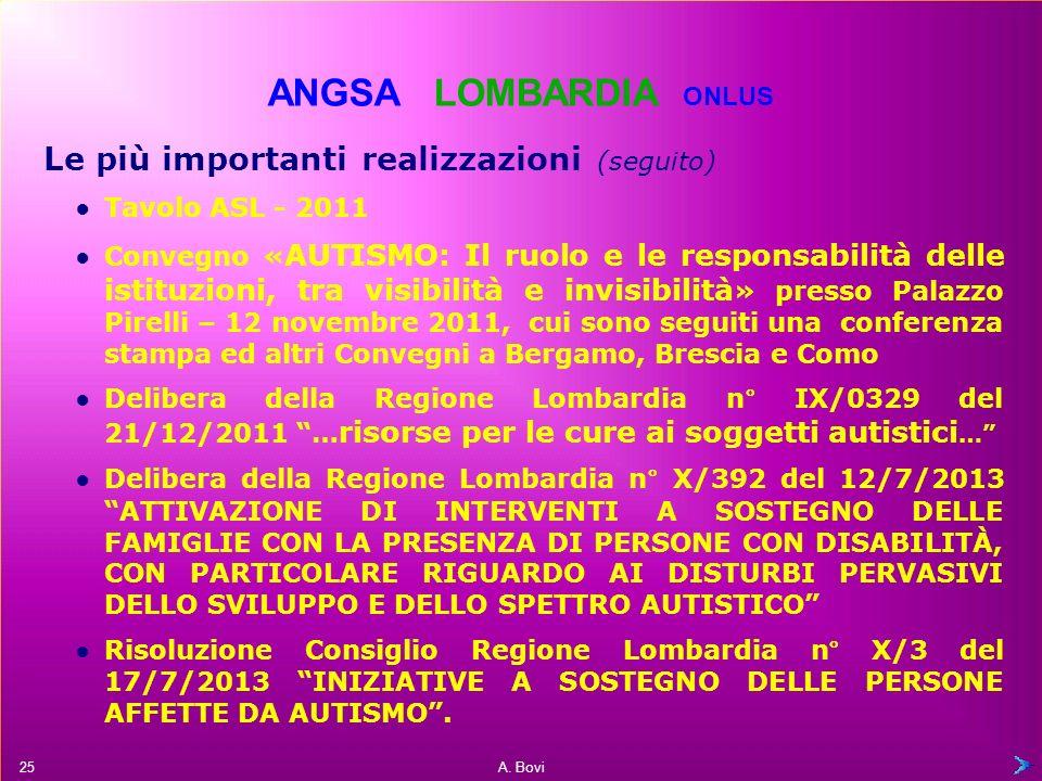 A. Bovi Linee guida per l'autismo Raccomandazioni diagnostiche e terapeutiche per le persone affette da autismo (D.G.R. 19 marzo 2008) Partecipazione