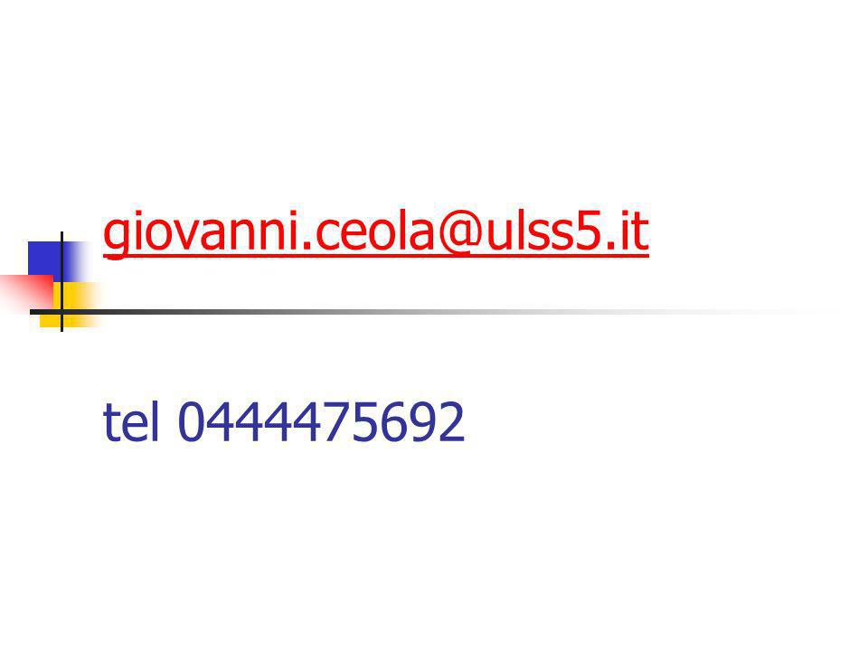 giovanni.ceola@ulss5.it giovanni.ceola@ulss5.it tel 0444475692