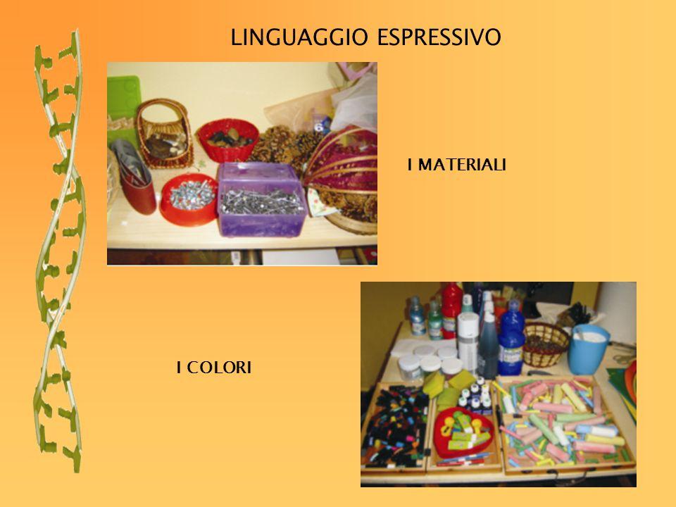 LINGUAGGIO ESPRESSIVO I MATERIALI I COLORI