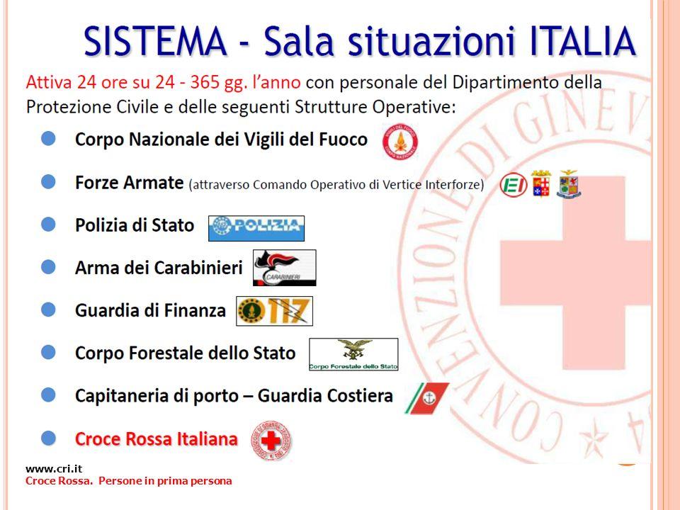 www.cri.it Croce Rossa. Persone in prima persona