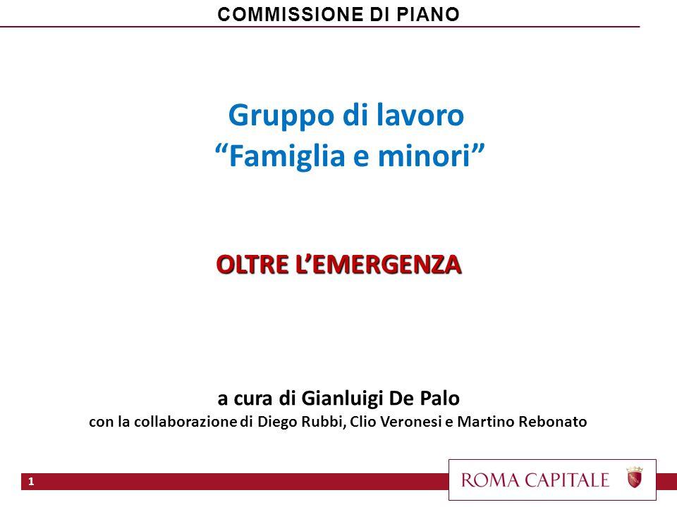 Gruppo di lavoro Famiglia e minori OLTRE LEMERGENZA a cura di Gianluigi De Palo con la collaborazione di Diego Rubbi, Clio Veronesi e Martino Rebonato
