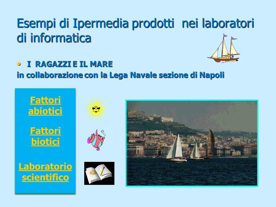 Esempi di Ipermedia prodotti nei laboratori di informatica I RAGAZZI E IL MARE I RAGAZZI E IL MARE in collaborazione con la Lega Navale sezione di Nap