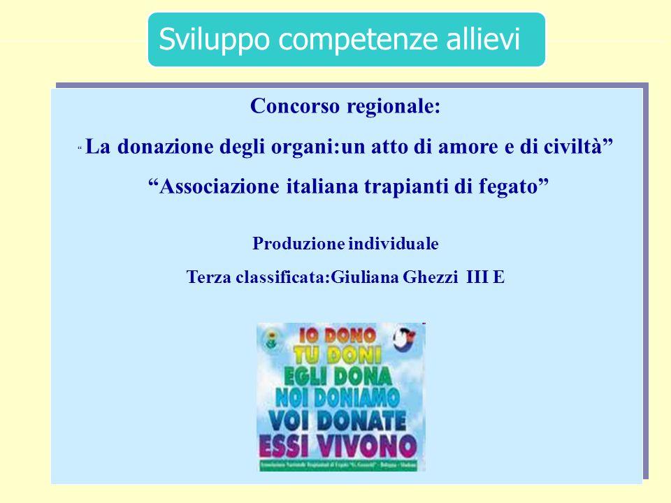 40 Concorso regionale: La donazione degli organi:un atto di amore e di civiltà Associazione italiana trapianti di fegato Produzione individuale Terza