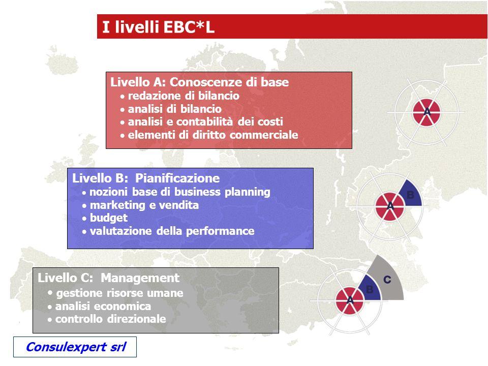 Livello C: Management gestione risorse umane analisi economica controllo direzionale Livello B: Pianificazione nozioni base di business planning marke