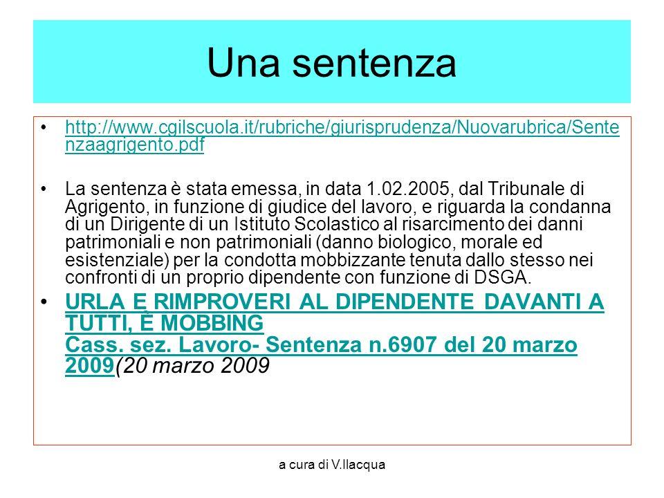 a cura di V.Ilacqua Una sentenza http://www.cgilscuola.it/rubriche/giurisprudenza/Nuovarubrica/Sente nzaagrigento.pdfhttp://www.cgilscuola.it/rubriche