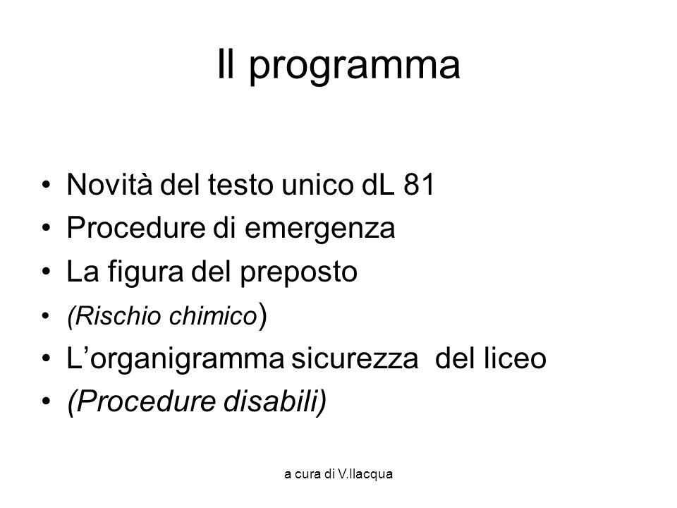 a cura di V.Ilacqua Cosa si trova in classe.Modulo di evacuazione Piano di evacuazione N.