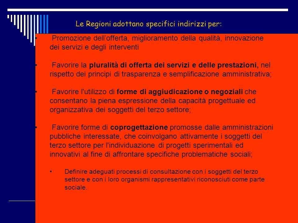 Studio Avv.Nunzio LEONE www.nunzioleone.it 87 Le Regioni adottano specifici indirizzi per: Promozione dellofferta, miglioramento della qualità, innova