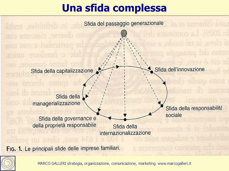 Marco Galleri 20133 MARCO GALLERI strategia, organizzazione, comunicazione, marketing. www.marcogalleri.it Una sfida complessa