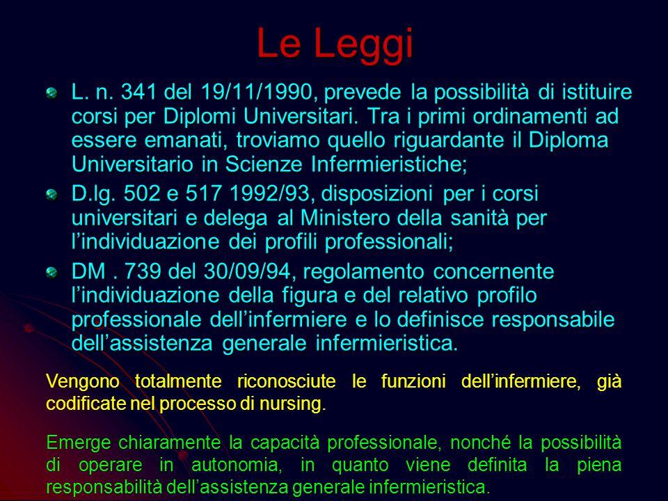 Le Leggi L. n. 833 del 23/12/78 – Riforma Sanitaria – pone tra i suoi obiettivi la formazione professionale e permanente, nonché laggiornamento scient
