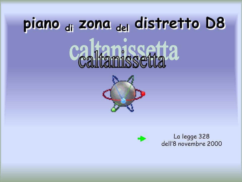 piano di zona del distretto D8 piano di zona del distretto D8 La legge 328 dell8 novembre 2000