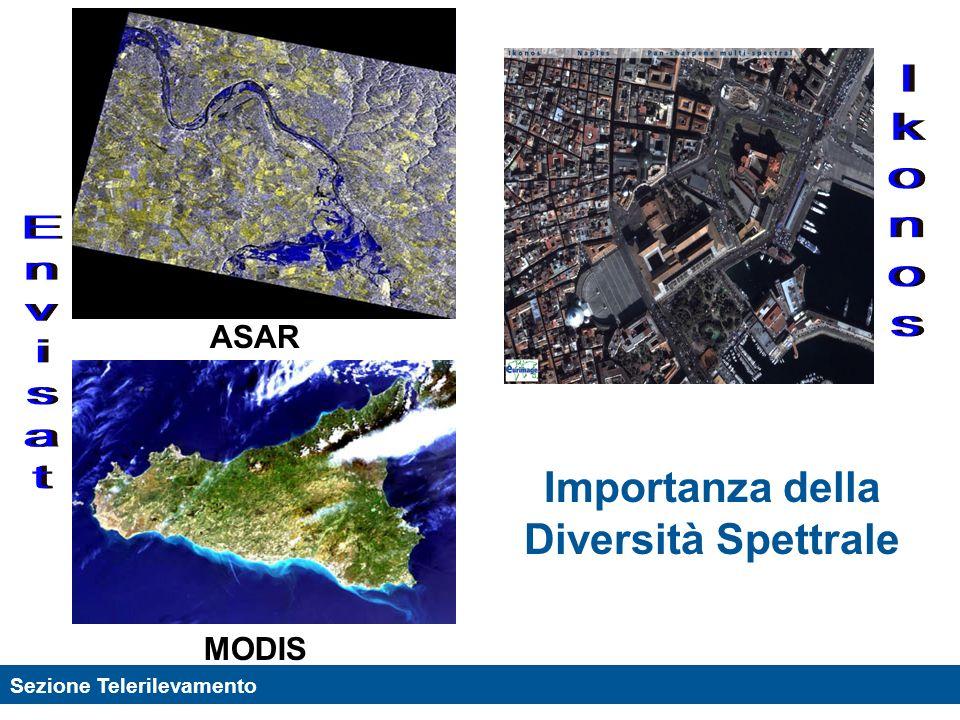 Sezione Telerilevamento Esempio di uso di immagini SAR per il controllo dellinquinamento marino Immagine ERS di superficie marina coperta da uno strato di petrolio (Oporto, 1994).