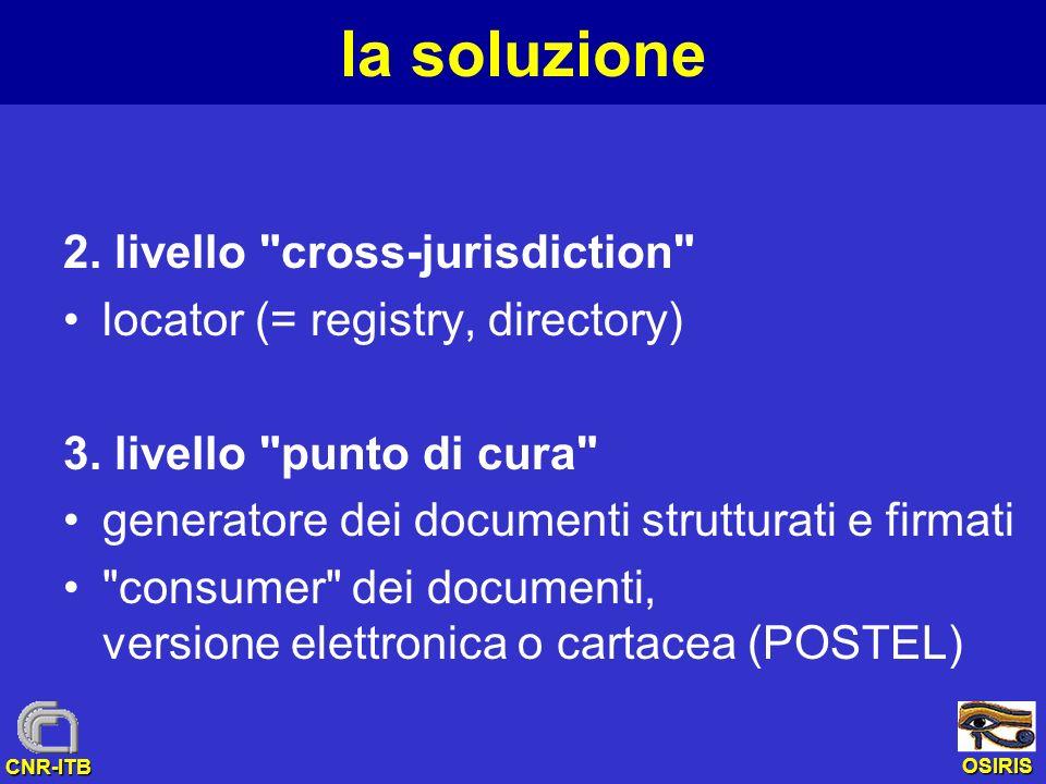 OSIRIS CNR-ITB la soluzione 2. livello