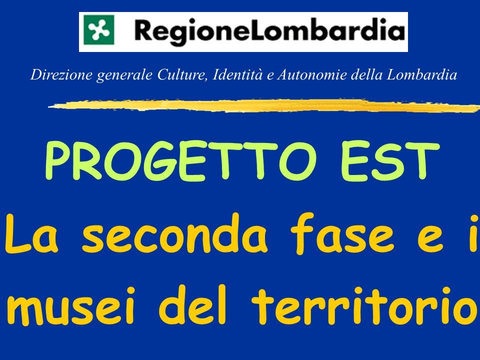 PROGETTO EST La seconda fase e i musei del territorio Direzione generale Culture, Identità e Autonomie della Lombardia