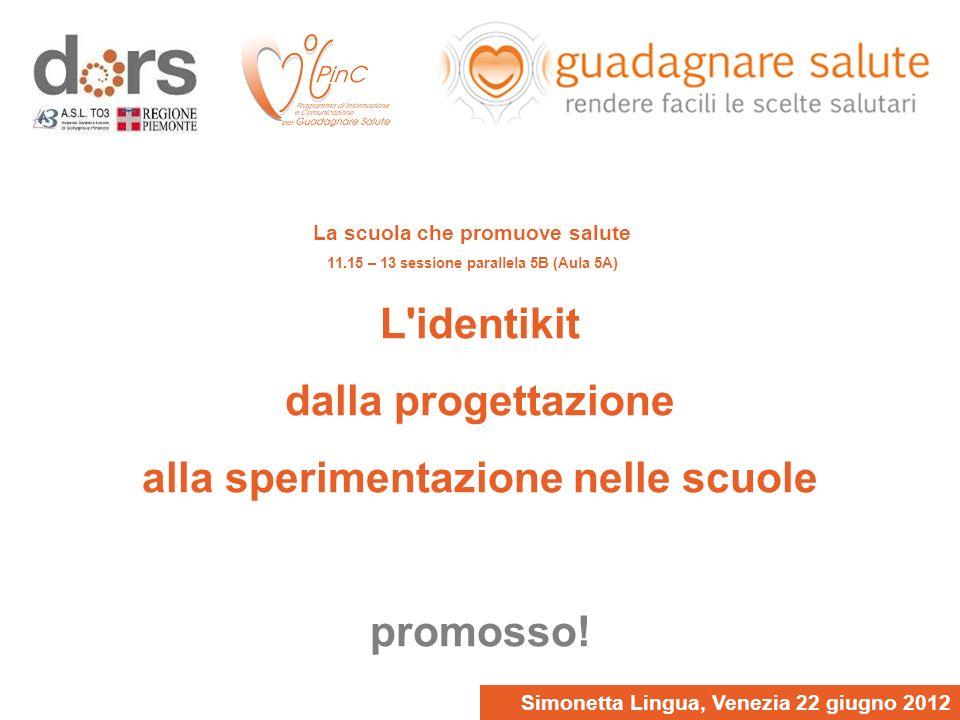 Simonetta Lingua, Venezia 22 giugno 2012 L identikit dalla progettazione alla sperimentazione nelle scuole promosso.