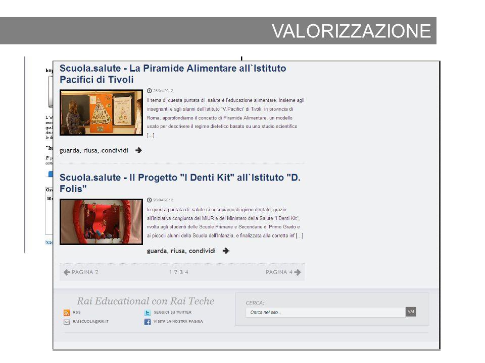VALORIZZAZIONE 2012 www.raiscuola.rai.it