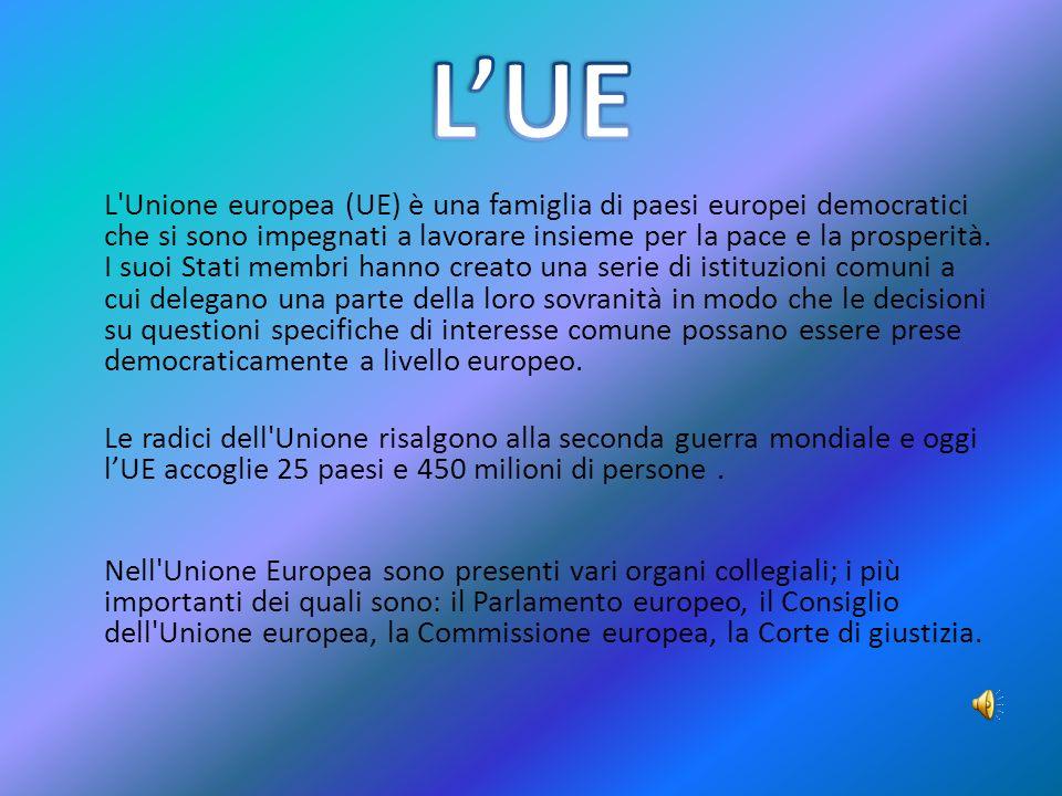 L Unione europea (UE) è una famiglia di paesi europei democratici che si sono impegnati a lavorare insieme per la pace e la prosperità.