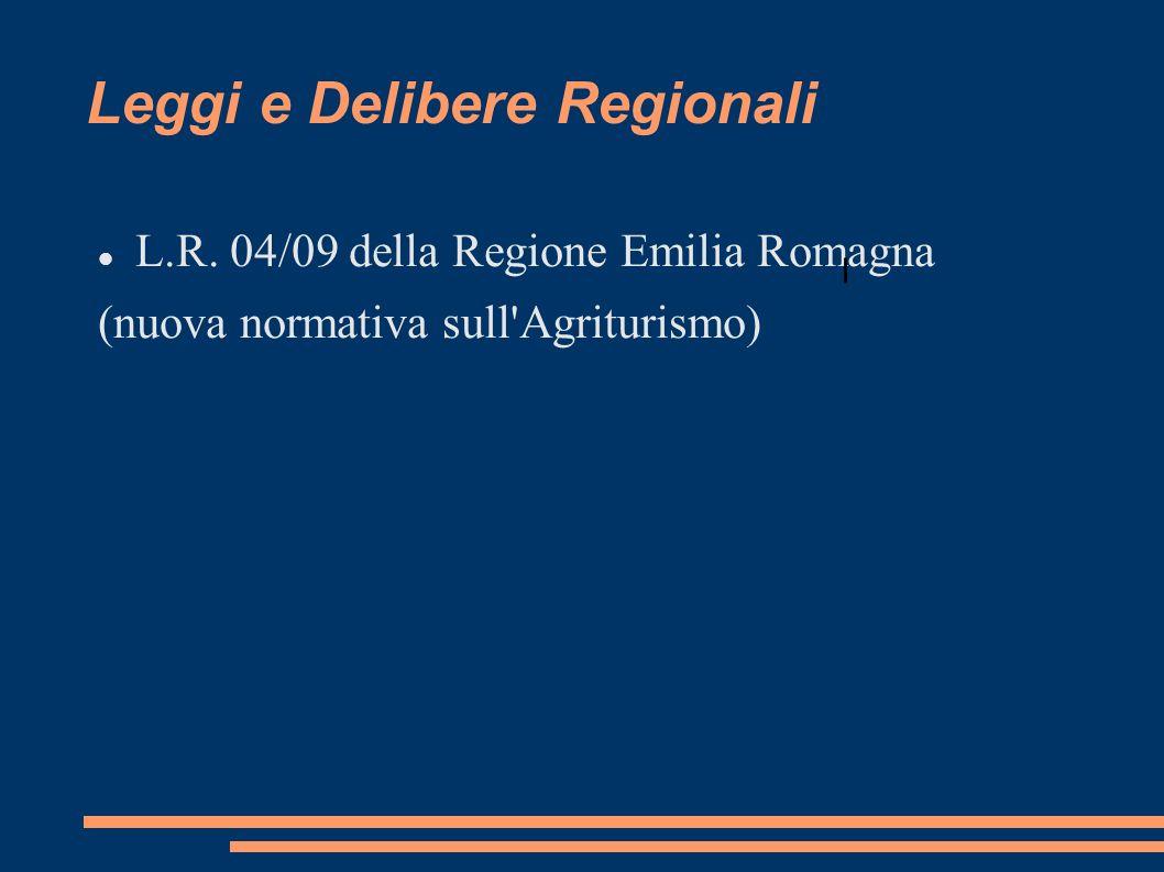 Leggi e Delibere Regionali L.R.