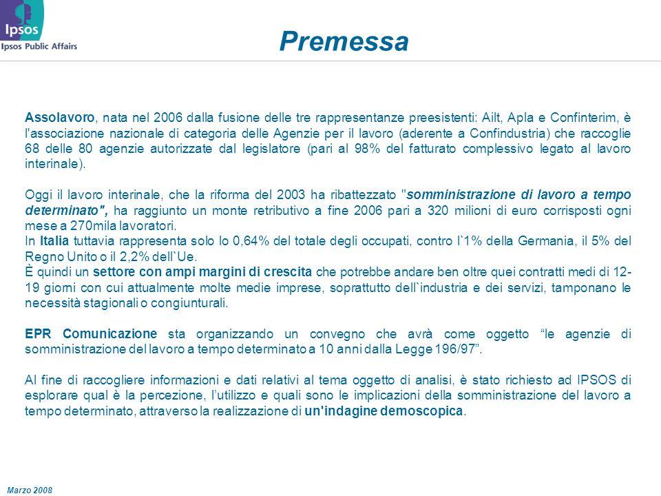 Premessa Assolavoro, nata nel 2006 dalla fusione delle tre rappresentanze preesistenti: Ailt, Apla e Confinterim, è l associazione nazionale di categoria delle Agenzie per il lavoro (aderente a Confindustria) che raccoglie 68 delle 80 agenzie autorizzate dal legislatore (pari al 98% del fatturato complessivo legato al lavoro interinale).