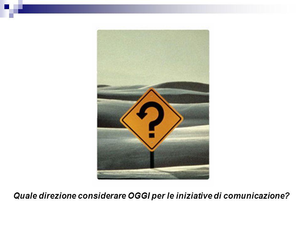Quale direzione considerare OGGI per le iniziative di comunicazione