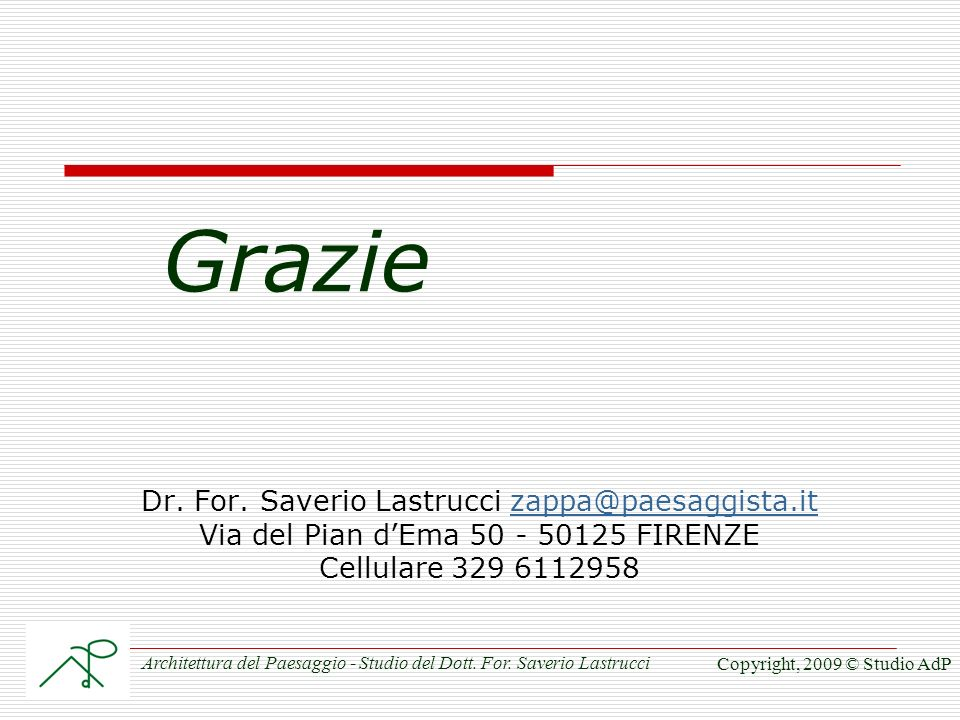 Grazie Dr.For.