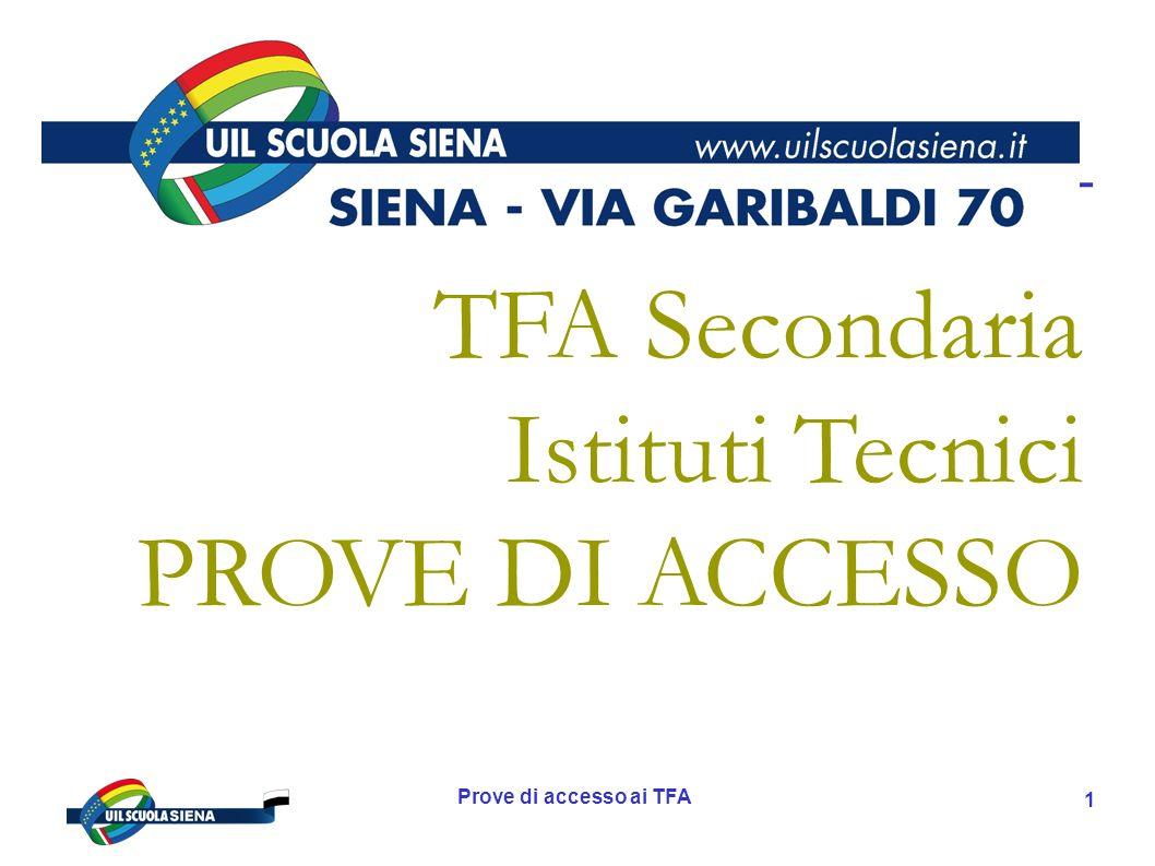 Prove di accesso ai TFA 2 Chi siamo