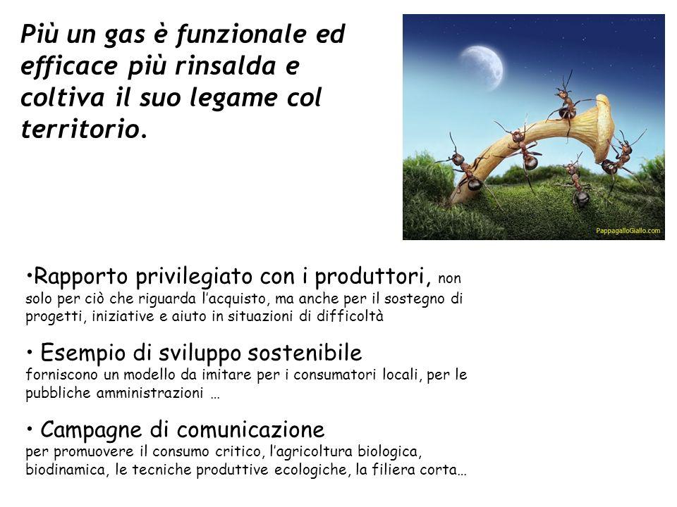 Più un gas è funzionale ed efficace più rinsalda e coltiva il suo legame col territorio. Rapporto privilegiato con i produttori, non solo per ciò che