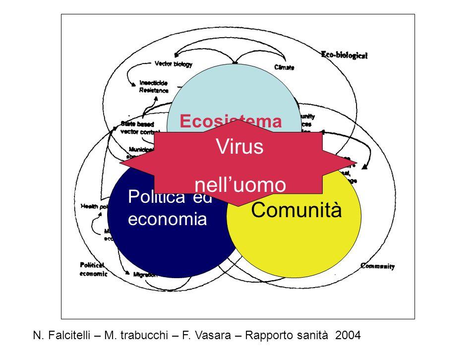 N. Falcitelli – M. trabucchi – F. Vasara – Rapporto sanità 2004 Ecosistema Politica ed economia Comunità Virus nelluomo