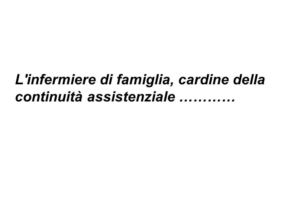 L'infermiere di famiglia, cardine della continuità assistenziale …………