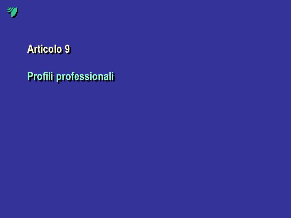 Articolo 9 Profili professionali Articolo 9 Profili professionali