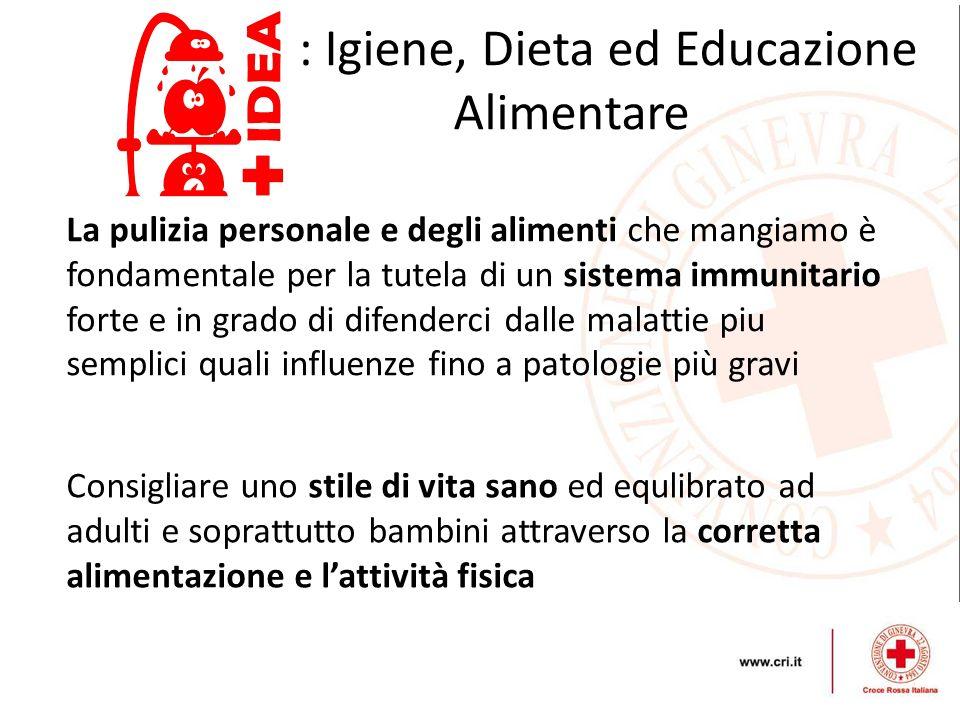 : Igiene, Dieta ed Educazione Alimentare Consigliare uno stile di vita sano ed equlibrato ad adulti e soprattutto bambini attraverso la corretta alime