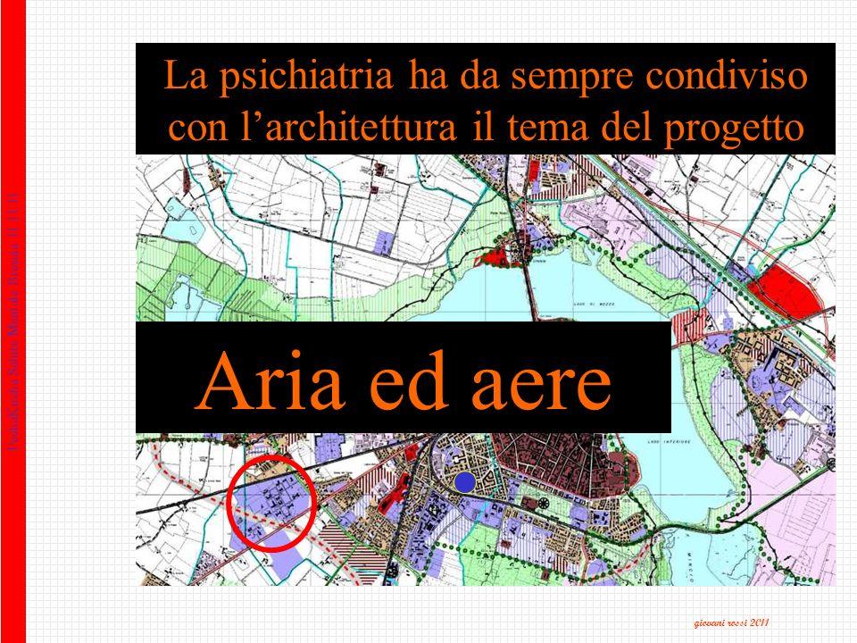 PechaKucha Salute Mentale Brescia 11.11.11 La psichiatria ha da sempre condiviso con larchitettura il tema del progetto Aria ed aere giovani rossi 2011