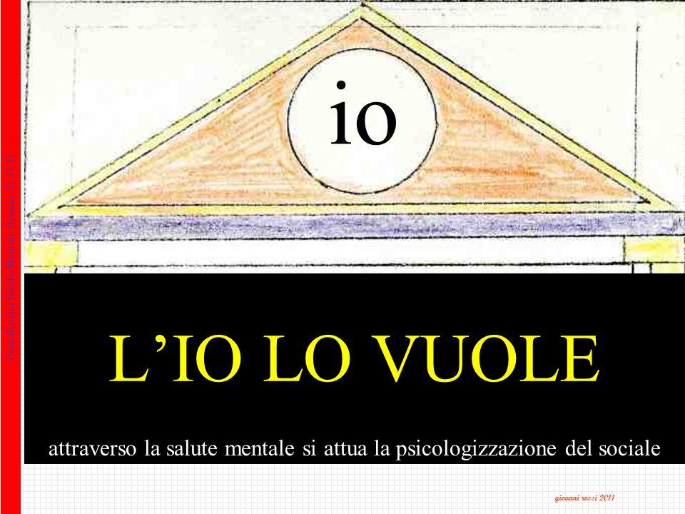 attraverso la salute mentale si attua la psicologizzazione del sociale PechaKucha Salute Mentale Brescia 11.11.11 giovani rossi 2011 io LIO LO VUOLE