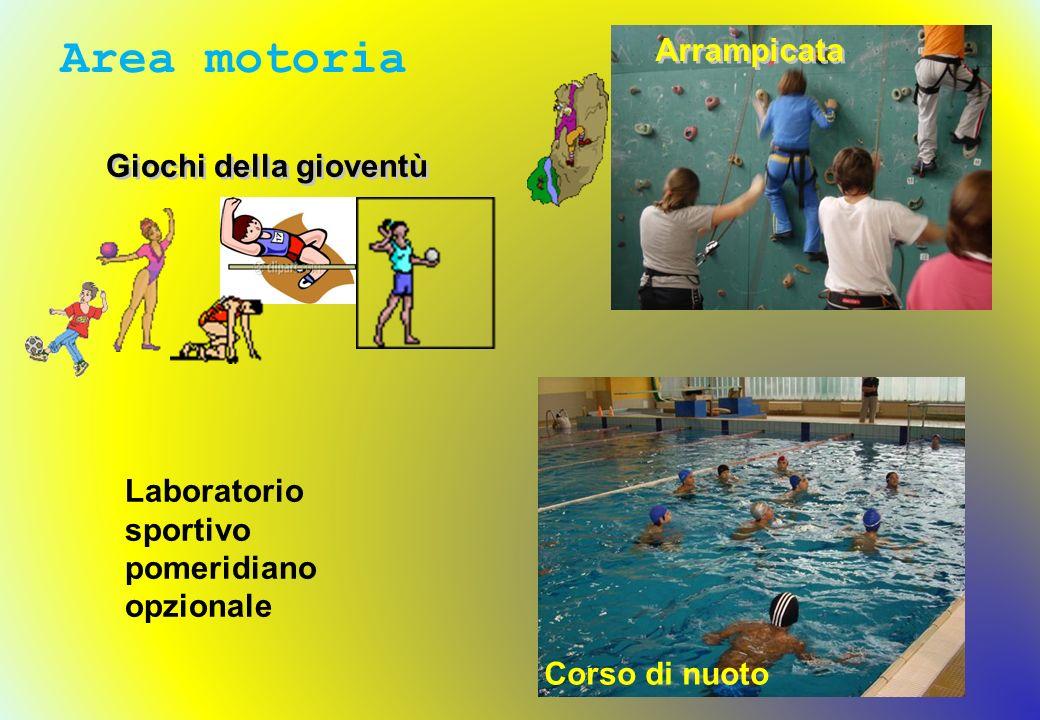 Arrampicata Giochi della gioventù Area motoria Corso di nuoto Laboratorio sportivo pomeridiano opzionale