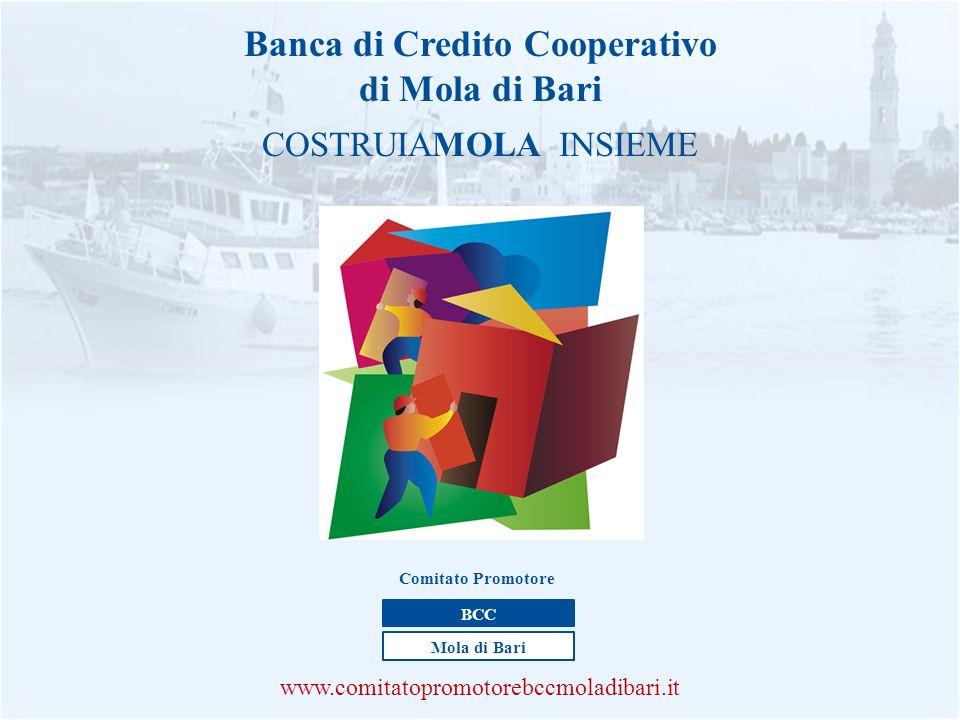 Banca di Credito Cooperativo di Mola di Bari COSTRUIAMOLA INSIEME www.comitatopromotorebccmoladibari.it BCC Mola di Bari Comitato Promotore