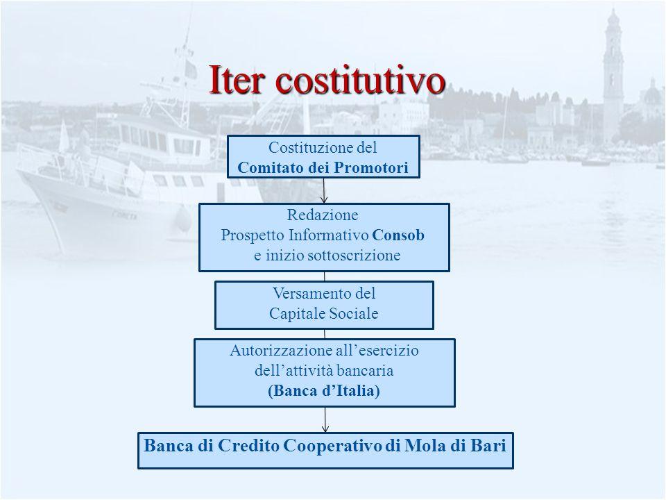 10 Iter costitutivo Costituzione del Comitato dei Promotori Redazione Prospetto Informativo Consob e inizio sottoscrizione Autorizzazione allesercizio