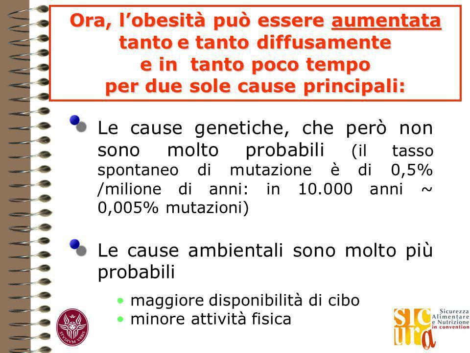 Le cause genetiche, che però non sono molto probabili (il tasso spontaneo di mutazione è di 0,5% /milione di anni: in 10.000 anni ~ 0,005% mutazioni)